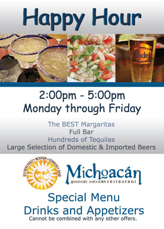 Get Our App Promotions Events At Michoacan Mexican